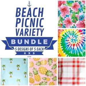 25 6X9 Beach Picnic Bundle PRICE IS FIRM